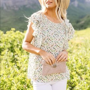 Cascading Ruffles Blouse in Ivory